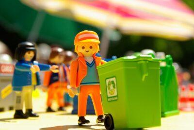 Sanitation worker toy set
