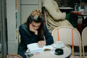 A candidate preparing for the civil service exam