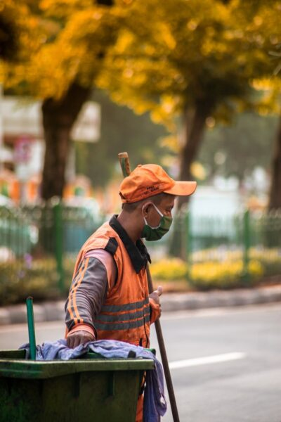 a worker of the NYC Sanitation department
