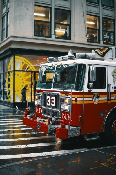 NY fire department vehicle