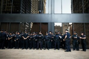 A group of police officers in New York City
